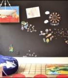 Магнитно грифельная поверхность в детской комнате.