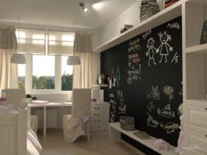 Грифельное покрытие в детской комнате