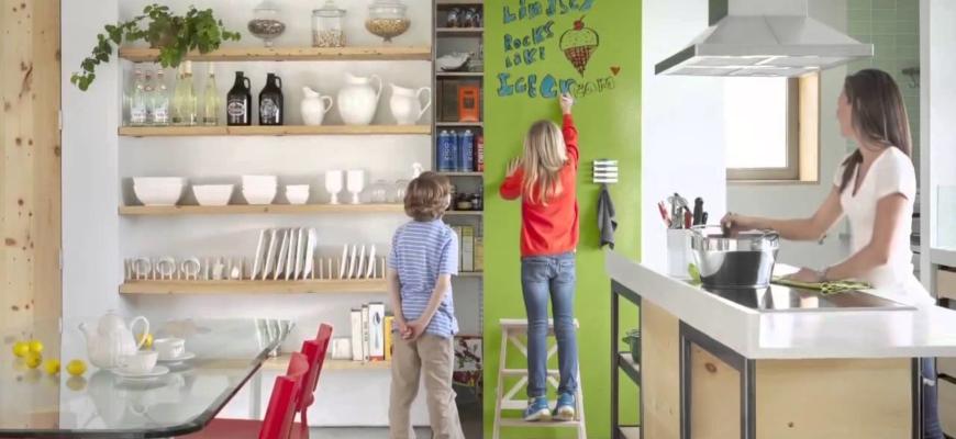 Маркерная стена на кухне