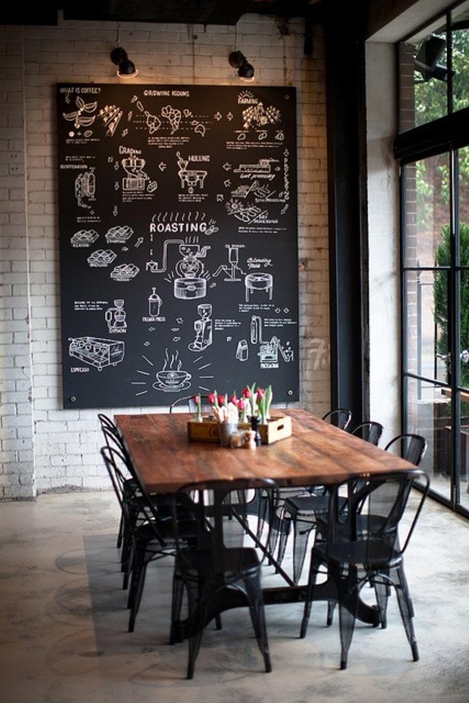 Грифельная стена в столовой