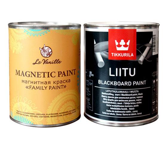 Магнитная и грифельная краска Le Vanille