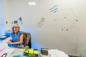 Маркерная стена в офисе Яндекс