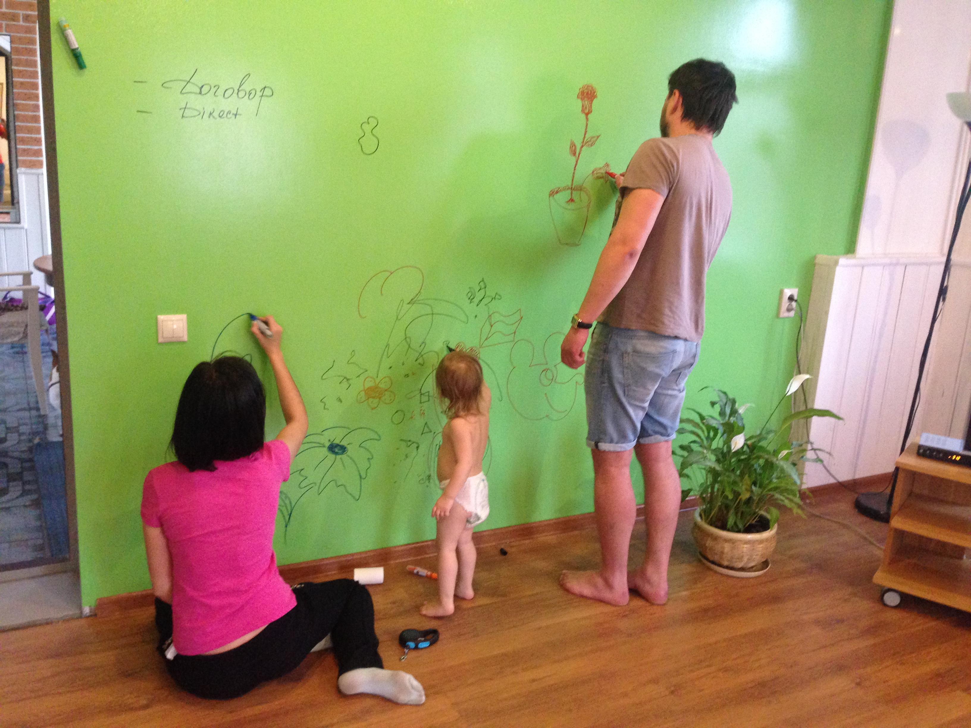 Маркерная стена для детей и взрослых