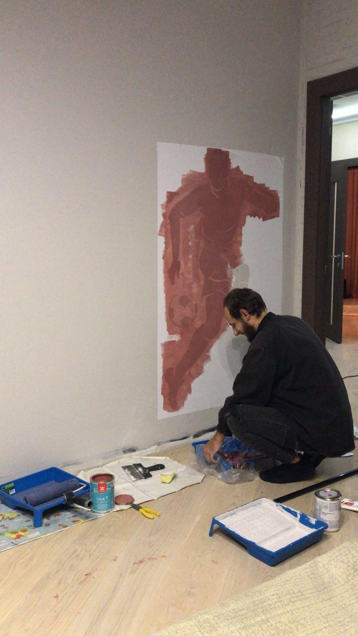 Покрасить стену маркерной краской