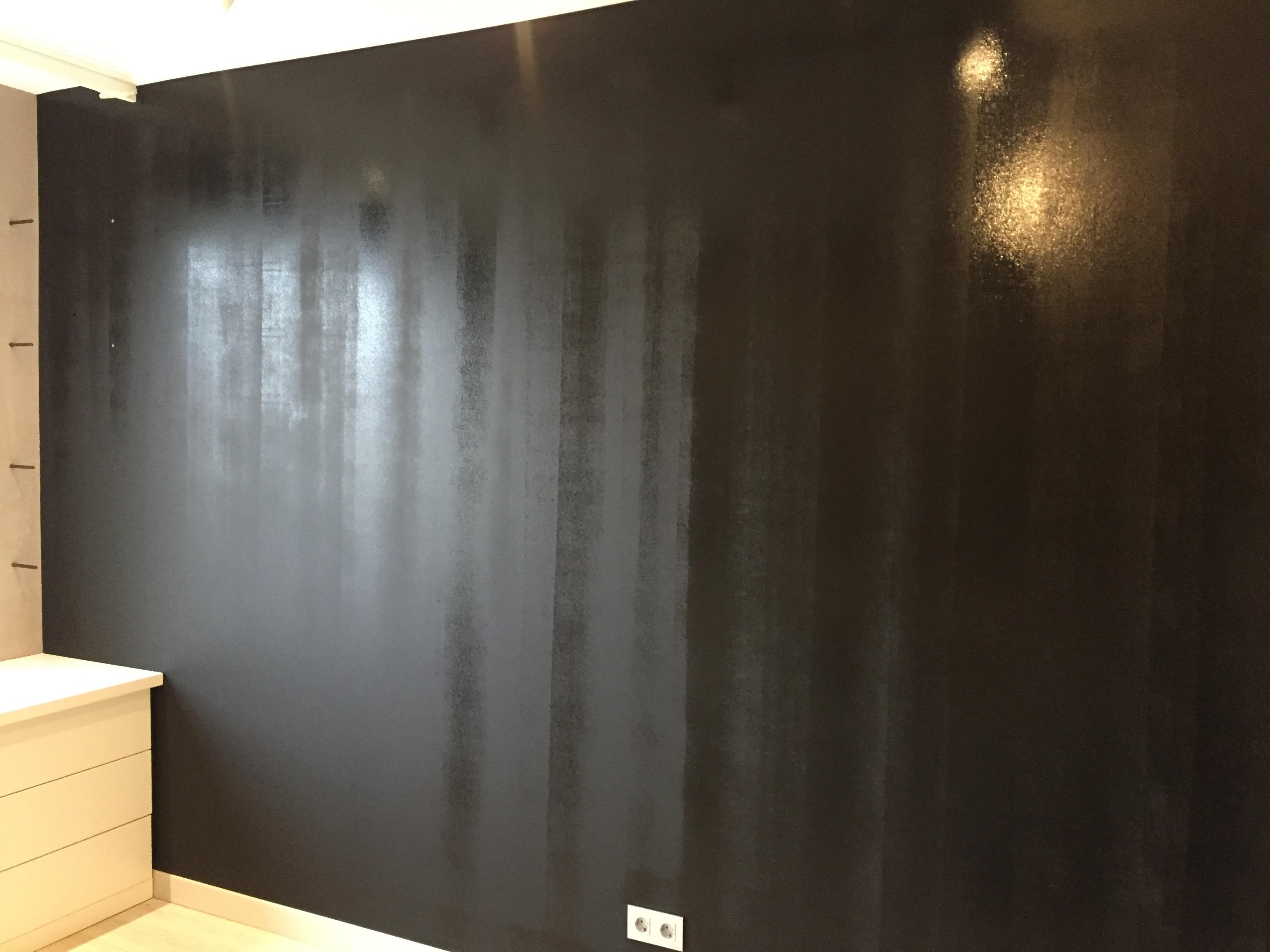 Перекрашенная грифельная стена