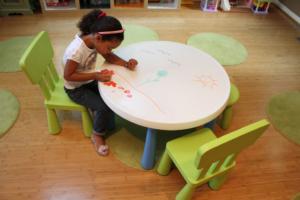 Маркерный стол в детском садике