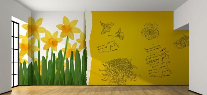 Оформления стен в детской комнате своими руками