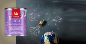Грифельная краска с эффектом школьной доски
