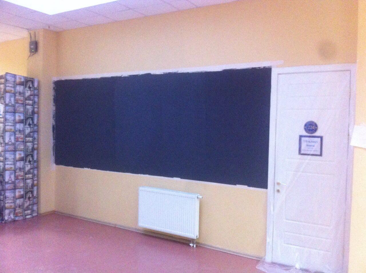 Магнитно маркерная стена в школе Президент