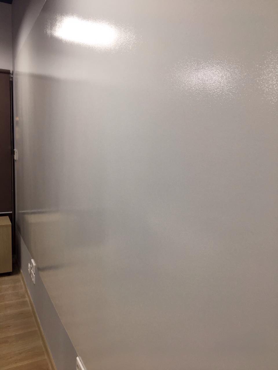 Стена готова для нанесения маркерной краски.
