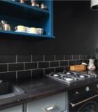 Грифельная стена на кухне цвета Le Vanillle Антрацит