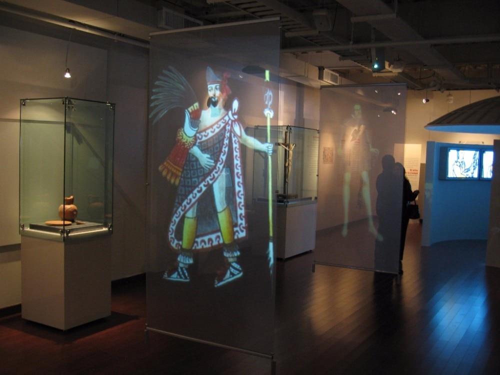 Краска для обратной проекции в музее
