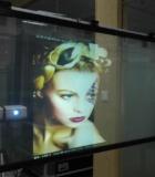 Краска обратной проекции на стекле